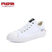 HOZ后街官方夏季新款帆布鞋女 男女情侣款平底板鞋低帮透气百搭潮 144.5元