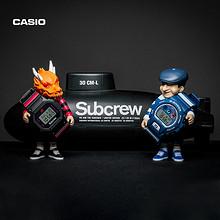 21日0点、新品发售: casio 卡西欧 G-SHOCK×SUBCREW×CAB 三方联名款手表 1290元
