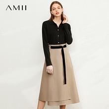 聚划算百亿补贴:AMII 1204TM0091 高腰半身裙 100元包邮