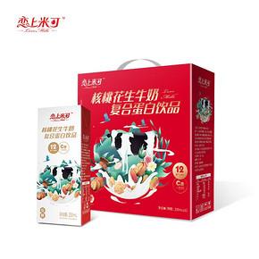 核桃花生牛奶250ml*12瓶