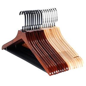 【拍两件】裕祥实木衣架防滑无痕木头