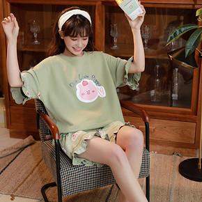 女士短袖睡衣套装M-XXL