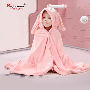 婴儿浴巾超柔吸水速干盖毯连帽斗篷