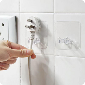 【10个装】免打孔电源电线插头插座挂钩