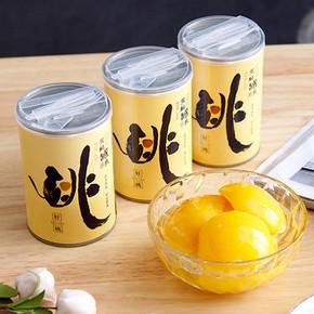 福源门!黄桃水果罐头425g×4罐