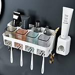 免打孔吸壁式牙刷架套装浴室置物架