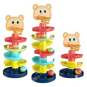 宝宝益智趣味轨道滑球塔转转乐玩具塔