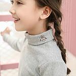 【北极绒】秋冬女童纯棉加绒打底衫