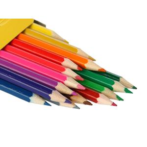得力 儿童绘画彩色铅笔12色