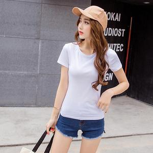 简约纯色# 韩版修身短袖T恤