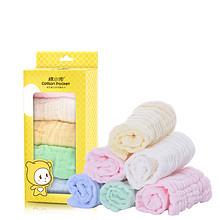 棉小兜 A类婴儿纱布口水巾3条 14.9元包邮(29.9-15券)