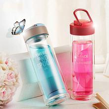 物生物 双层便携玻璃水杯400ml+三件套 19.9元(39.9-20券)