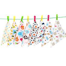 艾乐果 纯棉婴儿口水巾 5条 19.8元包邮(29.8-10券)