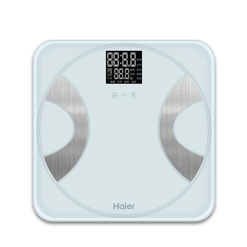 全面检测# 海尔 智能体脂秤称脂肪秤