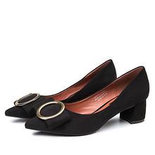 古典风度 浅口尖头百搭单鞋 99元包邮(149-50券)