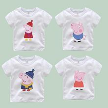 高质印花# kanitong 儿童小猪佩奇纯棉短袖t恤 24.9元包邮(29.9-5券)