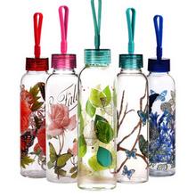美式创意# 爱屋格林 单层便携玻璃杯 500ml 19元包邮(59-40券)