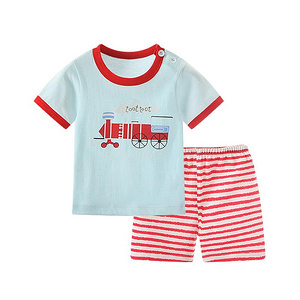北极绒 婴儿纯棉薄款短袖套装