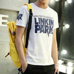 婪墨 男士纯棉圆领短袖T恤