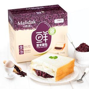 玛呖德 紫米奶酪面包110g*10包