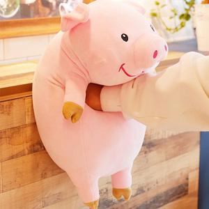 可爱毛绒趴趴猪公仔抱枕玩具30cm