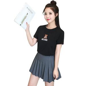 夏装新款女小熊刺绣短袖t恤