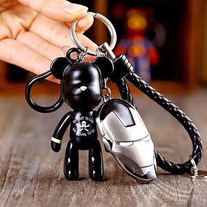 暴力熊 创意可爱编织钥匙链