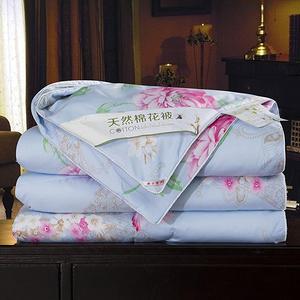 天然全棉填充可水洗薄款被子