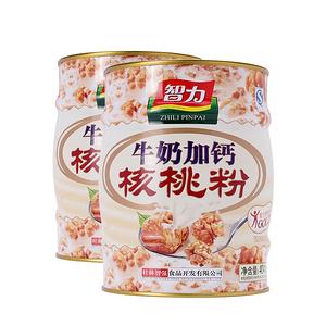 智力 牛奶加钙核桃粉404g*2罐