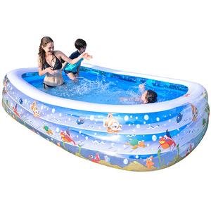 儿童加厚充气游泳池+送海洋球