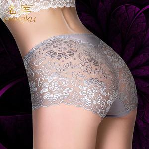 女无痕柔软性感蕾丝内裤3条装