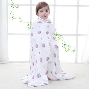 婴儿超柔纯棉大毛巾被100*120cm
