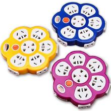 创意圆形插座12个2孔+5个3孔