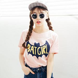女士百搭纯棉卡通印花短袖T恤