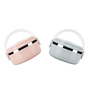 日式分格不锈钢保温饭盒单层款