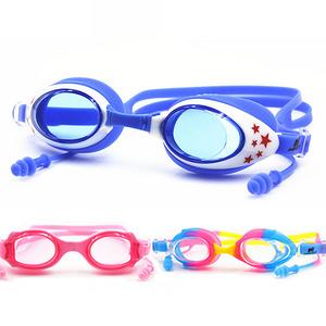儿童防水防雾高清泳镜+连体耳塞