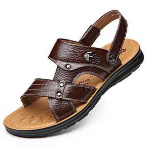 花花公子 夏季新款男士凉皮鞋