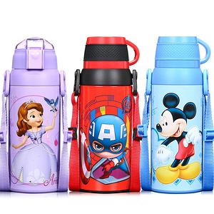 迪士尼 儿童带吸管防摔保温杯