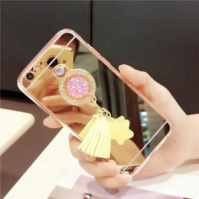 苹果系列日韩镜面指环支架手机壳 9.9元包邮(19.9-10券)