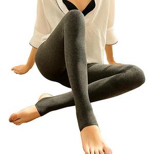 品彩 踩脚保暖一体条纹打底裤