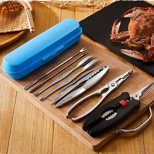 家用吃蟹工具大闸蟹钳+蟹针