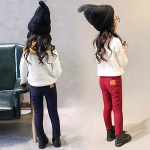 北极绒 女童加绒加厚打底裤