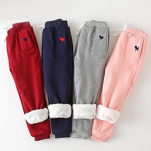 南极人 儿童加绒加厚休闲裤