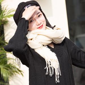 女士加厚韩版长款双面百搭围巾