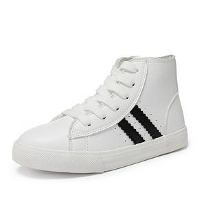大东 男女童高帮运动小白鞋