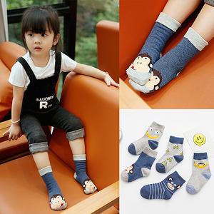 1-12岁儿童可爱纯棉中筒袜5双