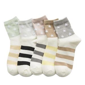 女国可爱低帮防滑袜5双装