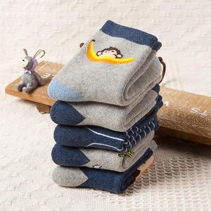 儿童全棉加厚加绒棉袜4双装