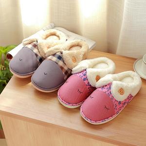 男女室内厚底时尚可爱棉拖鞋