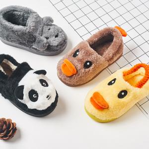 木木屋 儿童冬季加绒加厚拖鞋